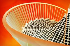 Spiraling down (Robbez) Tags: orange spiraling stairs wenteltrap oranje