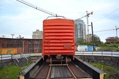 E&N 292278 (jc nadeau) Tags: railway trains rail railroad vancouver island bc en cpr cp roundhouse boxcar 292278 victoria