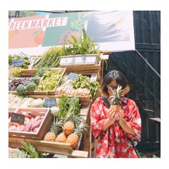 Me is🍍 (tramambi) Tags: photo picture image color love pineapple vegetable me fun phone hanoi vietnam girl red hawaii summer sunshine blur