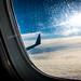 Embraer ERJ-175LR Winglet Over Western Washington Clouds