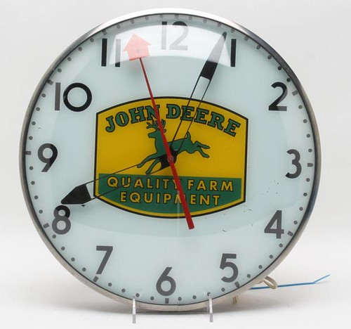 John Deere Equipment Advertising Clock ($364.00)