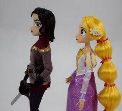 Rapunzel and Cassandra Doll Set - Tangled: The Series - Disney Store Purchase - Deboxed - Free Standing - Midrange Right Side View (drj1828) Tags: us disneystore tangled tangledtheseries doll 2017 purchase posable 10inch 2d deboxed rapunzel cassandra