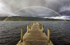 Rainbow, Windermere, Lake District, UK (MelvinNicholsonPhotography) Tags: rainbow windermere lakedistrict cumbria pier jetty water hills trees millerground amazing stunning solucky landscapephotography landscapephotographyworkshops leefilters melvinnicholsonphotography