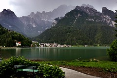 The storm is beginning .... comes from Mount Civetta(m.3220 s.l.m.) (giobertaskin) Tags: monte civetta rain pioggia temporale storm lake lago alleghe