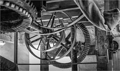 Heatherslaw Mill . (wayman2011) Tags: fujifilmxt10 lightroom wayman2011 bw mono mills oldmills cogs belts machinery rural northumberland heatherslaw uk