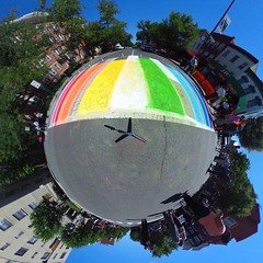 #DCRainbowCrossWalks #Theta360 #PrideInColor360 #DC360 #instapride #WeAreDC #LifeinColor360 #activetransportation