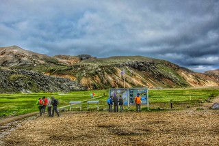 Iceland ~ Landmannalaugar Route ~  Ultramarathon is held on the route each July ~  Information Center
