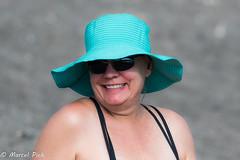 Mystery woman (CapMarcel) Tags: mystery woman beach galapagos week 1 2017 deena