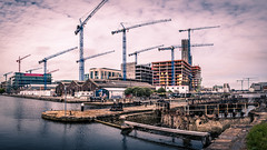 Capital Dock cranes - Dublin, Ireland - Architecture photography (Giuseppe Milo (www.pixael.com)) Tags: dublin countydublin ireland ie architecture urban city water canal liffey grandcanal cranes works buildings dock cityscape panorama onsale