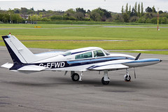G-FFWD | Privately owned | Cessna 310R | CN 310R0579 | Built 1976 | EIWT 27/04/2017 (Mick Planespotter) Tags: aircraft prop turboprop 2017 nik sharpenerpro3 weston gffwd privately owned cessna 310r 310r0579 1976 eiwt 27042017