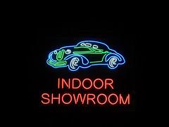 Auto Motion, Indoor Showroom, St Louis Park, MN (Debora Drower) Tags: automotion indoorshowroom mn neonsign stlouispark neon night
