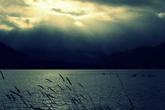 Lake in France Dusk