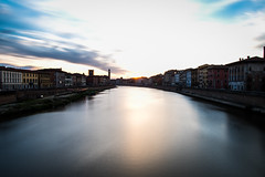 Silk (DanAie) Tags: pentax photography pisa tuscany travelphotography travel toscana color colour composition colors composizione smooth longexposure long exposure lungarno italia italy beautiful landscape flare