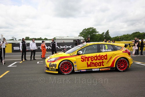 Mat Jackson on the BTCC grid at Oulton Park, May 2017