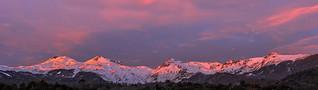 Sunset Chillán volcano