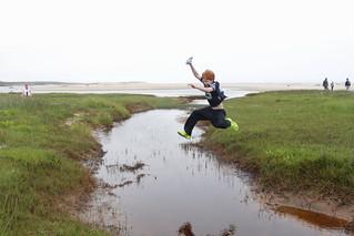 A prodigious leap across a creek