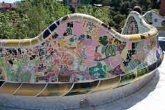 Mosaic (Thomas Schirmann) Tags: barcelone barcelona espagne spain españa catalogne catalonia mosaic mosaïque trencadis banc bench parcgüell parkgüell parquegüell