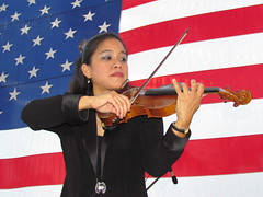 Me Playing Violin for the Patriot Day Concert (SCSQ4) Tags: violin american usa flag patriot day concert musician