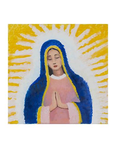 Autor: JOSE RAMON ARREDONDO GALLARDO, La Virgen morena  50x50 cm