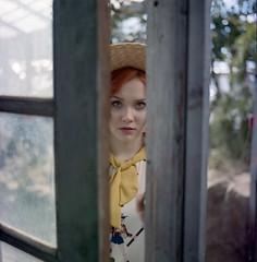 Acsenia. (vladimir_romansky) Tags: film medium format kodak girl portrait bokeh people indoor outdoor depth field hasselblad 500cm porta400 6x6