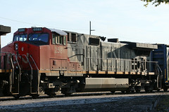 CN 2581 GE C44-9W Waiting For Crew To Go Eastbound To Canada Under The St Clair River In Port Huron (drum118) Tags: michiganphoto porthuronphoto cnrail 2581gec449w built101997 waitingforcrewtogo eastboundtocanadaunder thestclairriverinporthur