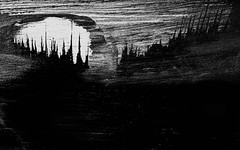 """düster Land"" (One-Basic-Of-Art) Tags: art artwork kunst drawing malen draw düster dunkel geheimnisvoll mystery dark darkest darkness dunkelheit finster finsternis black white noir blanc monochrom monochrome schwarz weiss weis grau gris gray grey annewoyand anne woyand 1basicofart onebasicofart fotografie canon photography pinsel einfarbig"