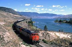 1987 08 08   9  CN 5409, -, WB Coal 2 Savona BC (Custom) (waldronyoung) Tags: cn train sulphur