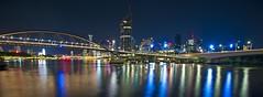 Night Brisbane (absblacky) Tags: nikon d700 night river city brisbane queensland australia light landscape bridge cbd water boat