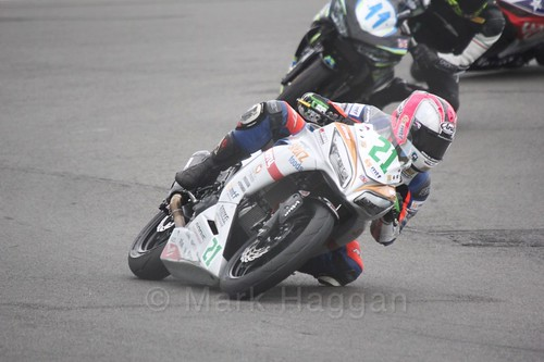 Avalon Biddle in World Supersport 300 at Donington Park, May 2017