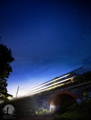 Stargazing (warmianaturalnie) Tags: night starspace astronomy galaxy dark nature constellation sky milkyway space blue landscape street nebula illuminated dusk highway lightnaturalphenomenon longexposure outdoors olsztyn stargazing