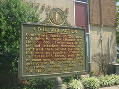 Historical Marker, Allen County Courthouse, August 1,2016 (rustyrust1996) Tags: allencounty scottsville kentucky courthouse historicalmarker civilwar johnmhughs