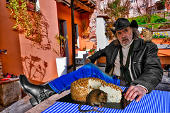 Two predators, one clandestine and the hazelnut cheesecake (Marco Trovò) Tags: marcotrovò hdr canon5d roccasusella pavia italia italy portrait farmhouse agriturismo cadure ristorante restaurant