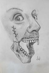 The Vampire (mefe2) Tags: vampire draw draws drawing drawings sketch sketchbook sketching sketchs pencil pencildrawing pencils pencilart art arte arts artist arty illustration ink inked tattoo horror skull skulltattoo skulls