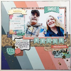 LOAD24 Hello #BestDayEver (girl231t) Tags: 2017 scrapbook layout 12x12layout paper load load517 load24