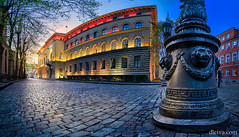 The Saeima Parliament, Old Town of Riga, Latvia (dleiva) Tags: dleiva architecture photography city europe horizontal latvia riga tilt outdoors color image government built structure street light facade building skill parliament lighting equipment domingo leiva baltic countries natural phenomenon