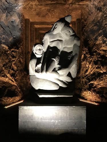 Pietà Descendimento, la Catedral de Sal, Zipaquira, Colômbia.