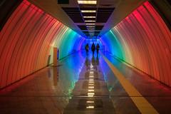 three musketeers (she version) / start to hallucinate! (Özgür Gürgey) Tags: 2017 35mm d750 nikon nispetiye samyang architecture colors lines reflection station subway symmetry istanbul turkey