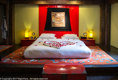 For my Dear Wife Bobo, Happy Birthday! (Pexpix) Tags: banyantree bed bedroom farmhouse heart interior love ringhavalley shangrila special tibetian tibetianstyle indoors diqingzangzuzizhizhou yunnansheng china