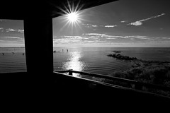 Frames 2 - Marcos 2 (Andrés Luis Muñoz) Tags: monocromo blancoynegro blackandwhite nikon d3300 tokina 1116mm miramar ansenuza cordoba argentina latinamerica latinoamerica dark lowkey wideangle granangular low lagoon laguna mirador contraluz backlight sunset aterdecer sun sol costa coast byn bw lake lago tokinaaf1116mmf28 chiaroscuro claroscuro contraste contrast agua water