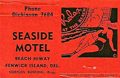 old matchbook from the Seaside Motel in Fenwick Island, Delaware (delmarvausa) Tags: seasidemotel vintage matchbooks motels fenwickislanddelaware fenwickislandde fide vintageadvertising delmarva vintagedelmarva southerndelawaware delawarebeaches delmarvapeninsula fenwickisland firststate beach sussexde coastaldelmarva southerndelaware delaware matchbook advertising eastcoast fideusa delawarehistory vintagedelaware oldmatchbook collectible coastaldelaware