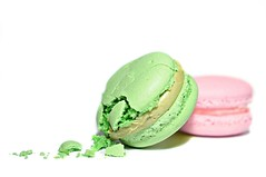 untitled (brescia, italy) (bloodybee) Tags: 365project macaron meringue sweet food crumbs stilllife pink green white macro