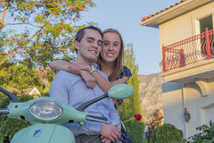 Engagement Picture - In Italy? (aaronrhawkins) Tags: engagement couple wedding fiancee engaged vespa scooter italian pose joshua rose flowers mediterranean sunset young student marriage happy aaronhawkins