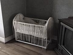 Unspoken Things (BKHagar *Kim*) Tags: bkhagar babybed bassinet crib estatesale upstairs odd baby bed nashville tn tennessee