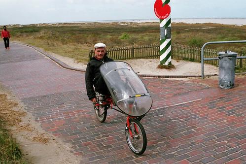 Ligfietsen op Borkum