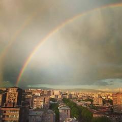 Yesterday's Rainbow of Yerevan (Alexanyan) Tags: rainbow storm rain yerevan armenia komitas capital city armenian caucasia armenie hayasdan