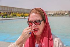 Isfahan, Iran (gstads) Tags: iran iranian persia persian isfahan esfahan red lipstick lip lips sunglasses portrait headscarf muslim islam islamic naqshejahansquare naqshejahan makeup woman female