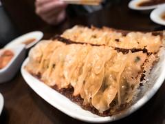 Chao Chao (lmaoonadee) Tags: gyoza dumpling fried set japanese japan nippon nihon kyoto chaochao chao crispy steam delicious filling cabbage meat golden crisps pork sanjō kiyamachi green onions gyozas feast