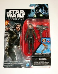sergeant jyn erso jedha star wars rogue one basic action figures 2016 hasbro mosc 2a (tjparkside) Tags: jyn erso jedha rebel warrior star wars rogue one 1 story basic action figure figures hasbro 2016 2017 disney imperial death trooper card package packaging tie fighter interceptor pilot special wave 2 removable hood projectile firing accessory blaster pistol weapon holster weapons