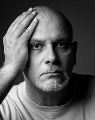 Self portrait (attilio.pirino) Tags: selfportrait blackwhite face hand autoritratto volto mano biancoenero