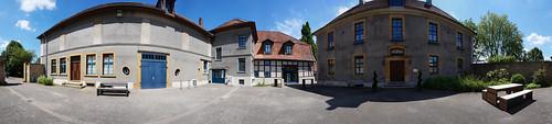 Haus Werther Innenhof Panorama